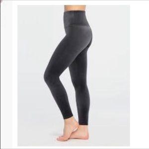 SPANX Charcoal Velvet Leggings Size M